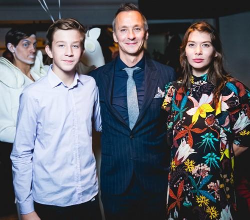 Степан Михалков с сыном Петром и дочерью Александрой