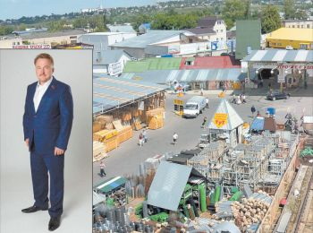 Так выглядела «База строительных товаров», когда ею руководил Виталий Рыбаков (октябрь 2014)