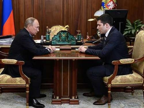 Владимир Путин и Антон Алиханов. Фото: Кремлин