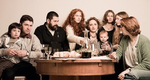 Братья Константин и Георгий Тотибадзе с женами и детьми