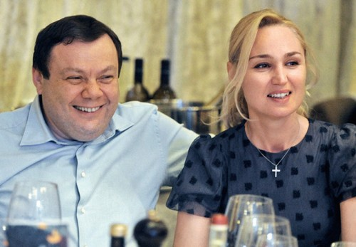 Михаил Фридман с Оксаной Ожельской