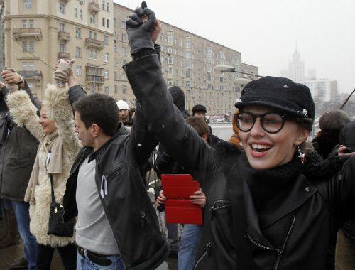 Собчак крики сучка на митинге